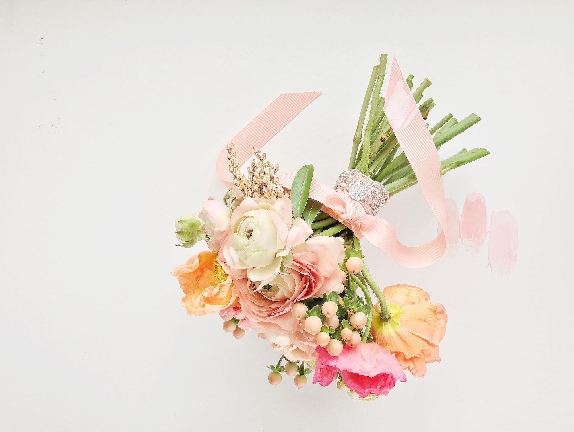 DIY spring bouquet for wedding, DIY bouquet