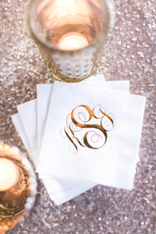 Monogramed Wedding Details