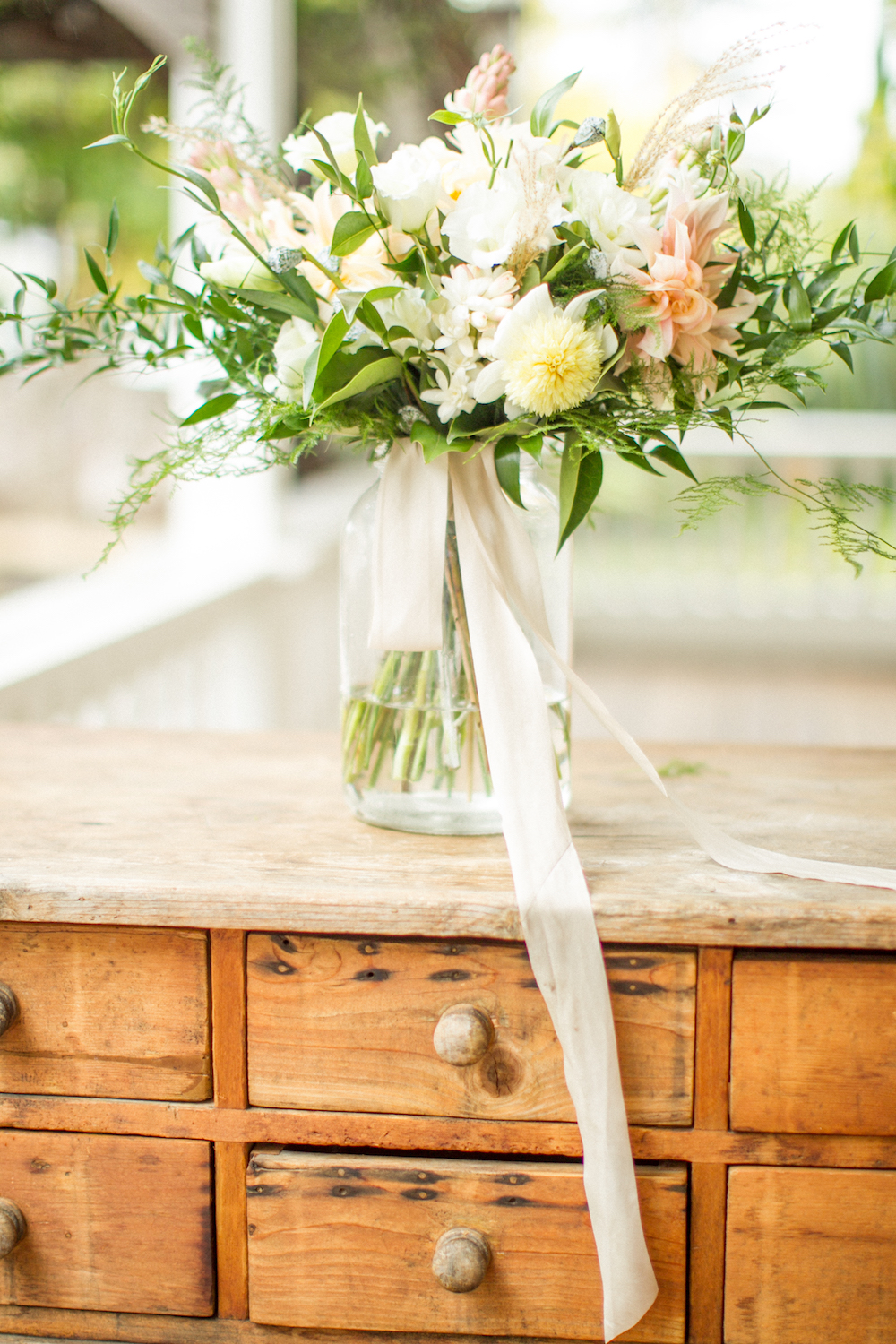 Cozy, Ethereal Wedding Inspiration at The General's Daughter, generals daughter wedding inspiration, rustic bouquet