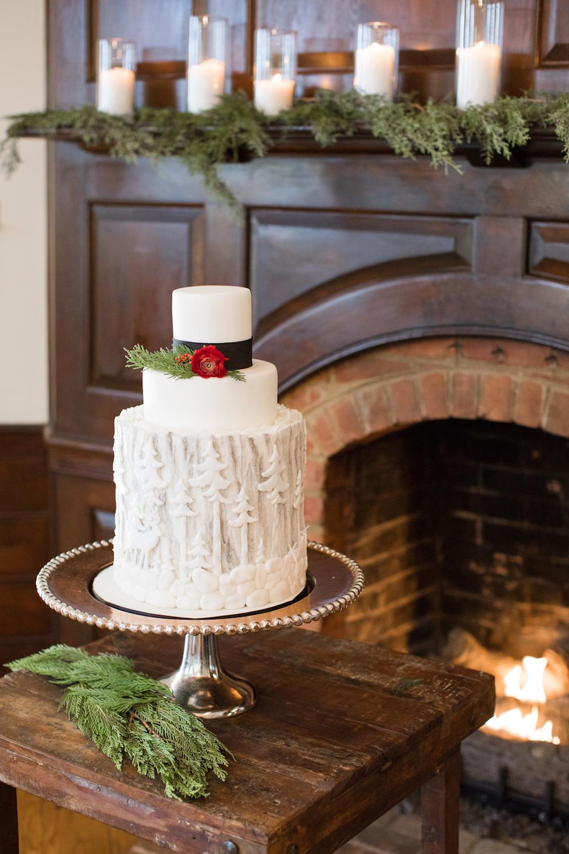 Winter Wonderland Wedding Inspiration , Hot Cocoa Bar, winter wonderland wedding cake
