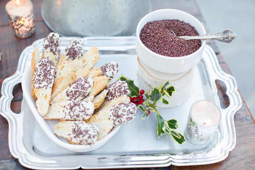 Winter Wonderland Wedding Inspiration , Hot Cocoa Bar, winter wedding dessert