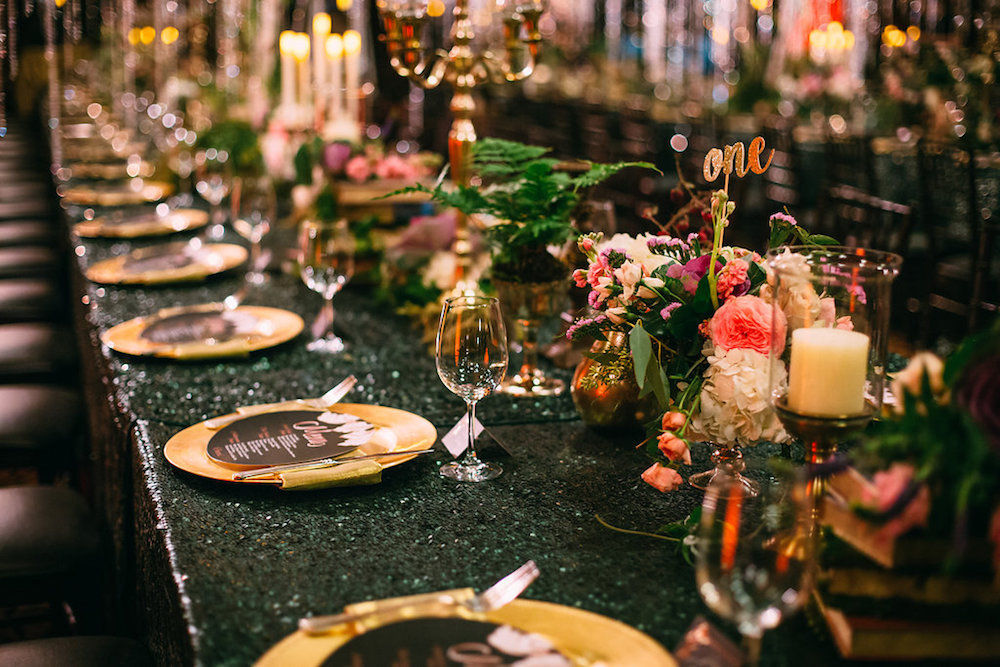 New Year's Eve Harry Potter Inspired Wedding. harry potter themed wedding, new years eve wedding, hogwarts wedding reception