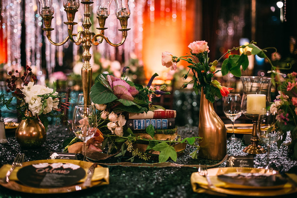 New Year's Eve Harry Potter Inspired Wedding. harry potter themed wedding, new years eve wedding
