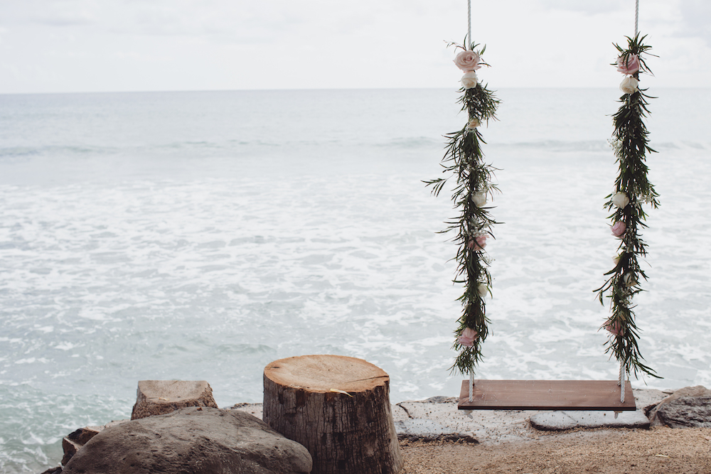 rustic Maui wedding