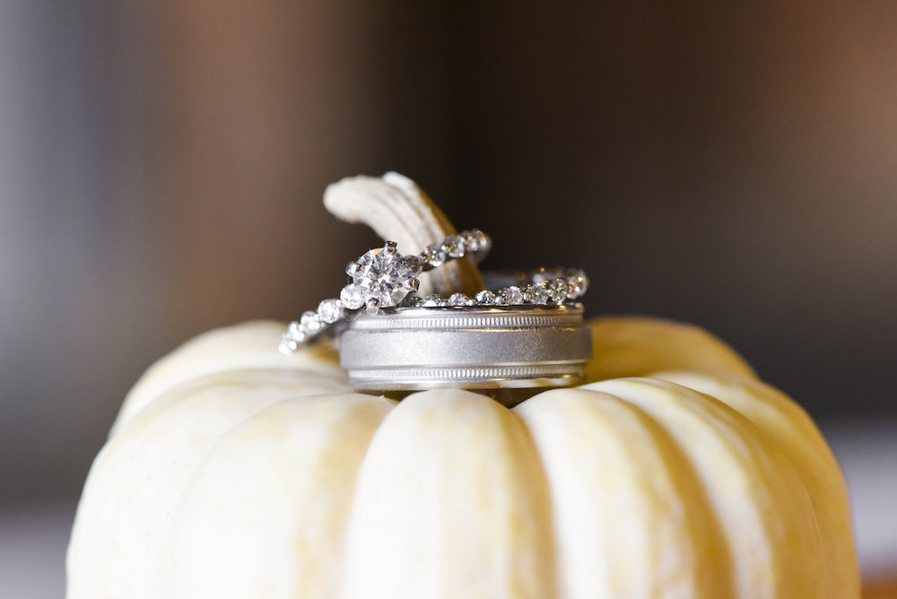 How To Incorporate Pumpkins Into Your Fall Wedding, pumpkin spice wedding inspiration, pumpkins engagement ring