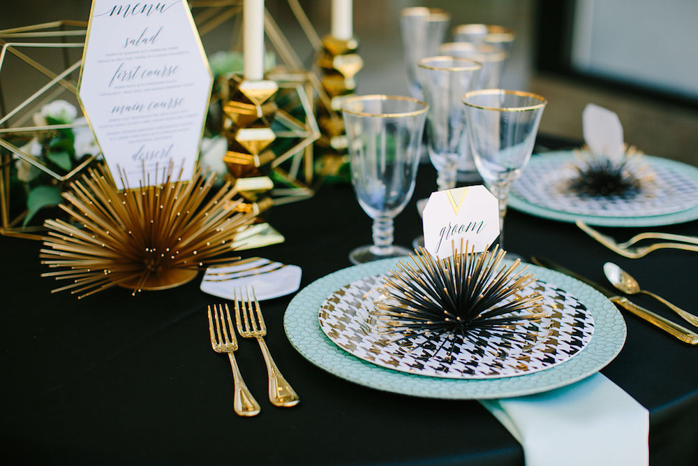 Moody Art Deco Wedding Inspiration