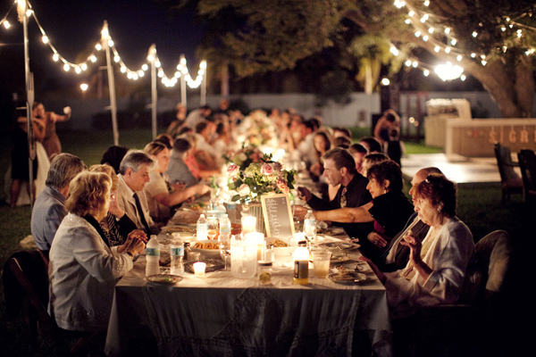dinner party, 8 Really Good Reasons to Keep Your Wedding Guest List Small, , small wedding guest list