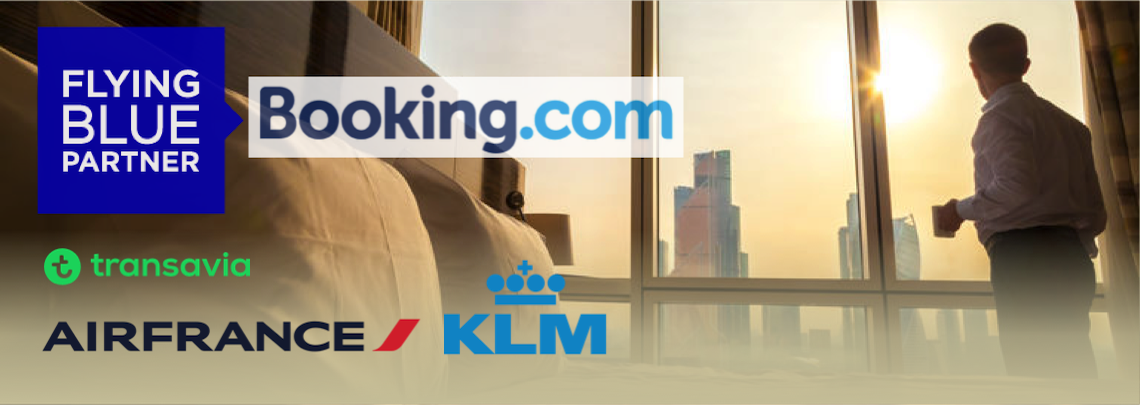 Fying-Blue-Meilen bei Booking.com mit Air France, KLM oder Transavia