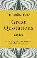 Cover for The Times Great Quotations  by James Owen