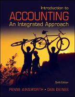 Cover for Introduction to Accounting: An Integrated Approach by Penne Ainsworth, Dan Deines