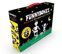 Cover for Funnybones book with mix-and-match puzzle by Allan Ahlberg