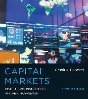 Cover for Capital Markets  by Frank J. Fabozzi