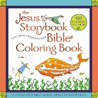 Cover for The Jesus Storybook Bible Coloring Book for Kids Every Story Whispers His Name by Sally Lloyd-Jones
