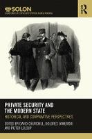 Cover for Private Security and the Modern State  by David Churchill