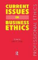 Cover for Current Issues in Business Ethics by Peter W.F. Davies