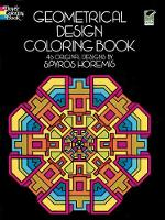 Cover for Geometrical Design Coloring Book by Spyros Horemis