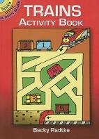 Cover for Trains Activity Book by Becky Radtke