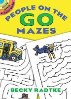 Cover for People on the Go Mazes by Becky Radtke