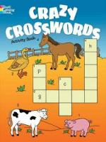 Cover for Crazy Crosswords Activity Book by Anna Pomaska
