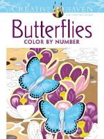 Cover for Creative Haven Butterflies Color by Number Coloring Book by Jan Sovak