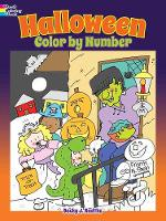 Cover for Halloween Color by Number by Becky J. Radtke