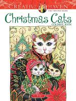 Cover for Creative Haven Christmas Cats Coloring Book by Marjorie Sarnat