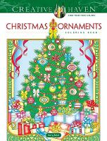 Cover for Creative Haven Christmas Ornaments Coloring Book by Marty Noble