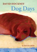 Cover for David Hockney Dog Days: Notecards by David Hockney