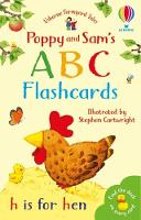 Cover for Poppy and Sam's ABC Flashcards by Felicity Brooks, Felicity Brooks