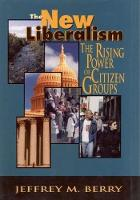 Cover for The New Liberalism  by Jeffrey M. Berry