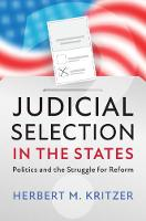 Cover for Judicial Selection in the States  by Herbert M. Kritzer