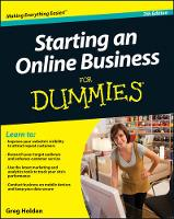 Cover for Starting an Online Business For Dummies by Greg Holden