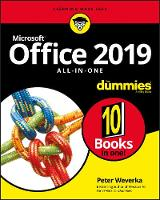 Cover for Office 2019 All-in-One For Dummies by Peter Weverka