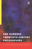 Cover for One Hundred Twentieth-Century Philosophers by Stuart Brown