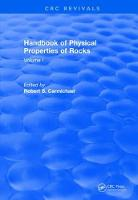 Cover for Revival: Handbook of Physical Properties of Rocks (1982)  by Robert S. (University of Iowa) Carmichael