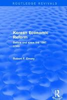 Cover for Revival: Korean Economic Reform (2001)  by Robert F. Emery