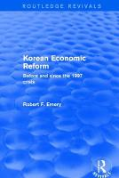 Cover for Korean Economic Reform  by Robert F. Emery