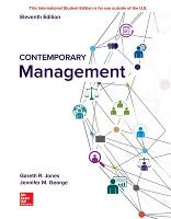 Cover for ISE Contemporary Management by Gareth Jones, Jennifer George