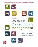 Cover for ISE Essentials of Contemporary Management by Gareth Jones, Jennifer George