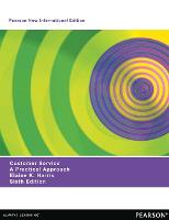 Cover for Customer Service: Pearson New International Edition  by Elaine Harris