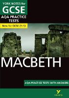 Cover for Macbeth AQA Practice Tests: York Notes for GCSE (9-1) by Alison Powell
