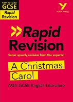 Cover for York Notes for AQA GCSE (9-1) Rapid Revision: A Christmas Carol by Lyn Lockwood