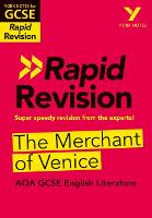 Cover for York Notes for AQA GCSE (9-1) Rapid Revision: The Merchant of Venice by Mike Gould