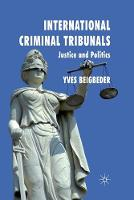 Cover for International Criminal Tribunals  by Y. Beigbeder