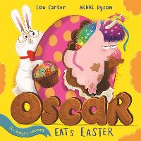 Cover for Oscar the Hungry Unicorn Eats Easter by Lou Carter