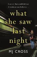 Cover for What She Saw Last Night by Mason Cross