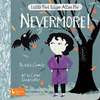 Cover for Little Poet Edgar Allan Poe: Nevermore! by Kate Coombs, Carme Lemniscates