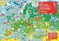 Cover for Usborne Atlas and Jigsaw Europe by Jonathan Melmoth