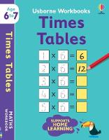 Cover for Usborne Workbooks Times Tables 6-7 by Holly Bathie