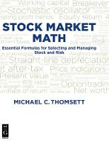 Cover for Stock Market Math  by Michael C. Thomsett